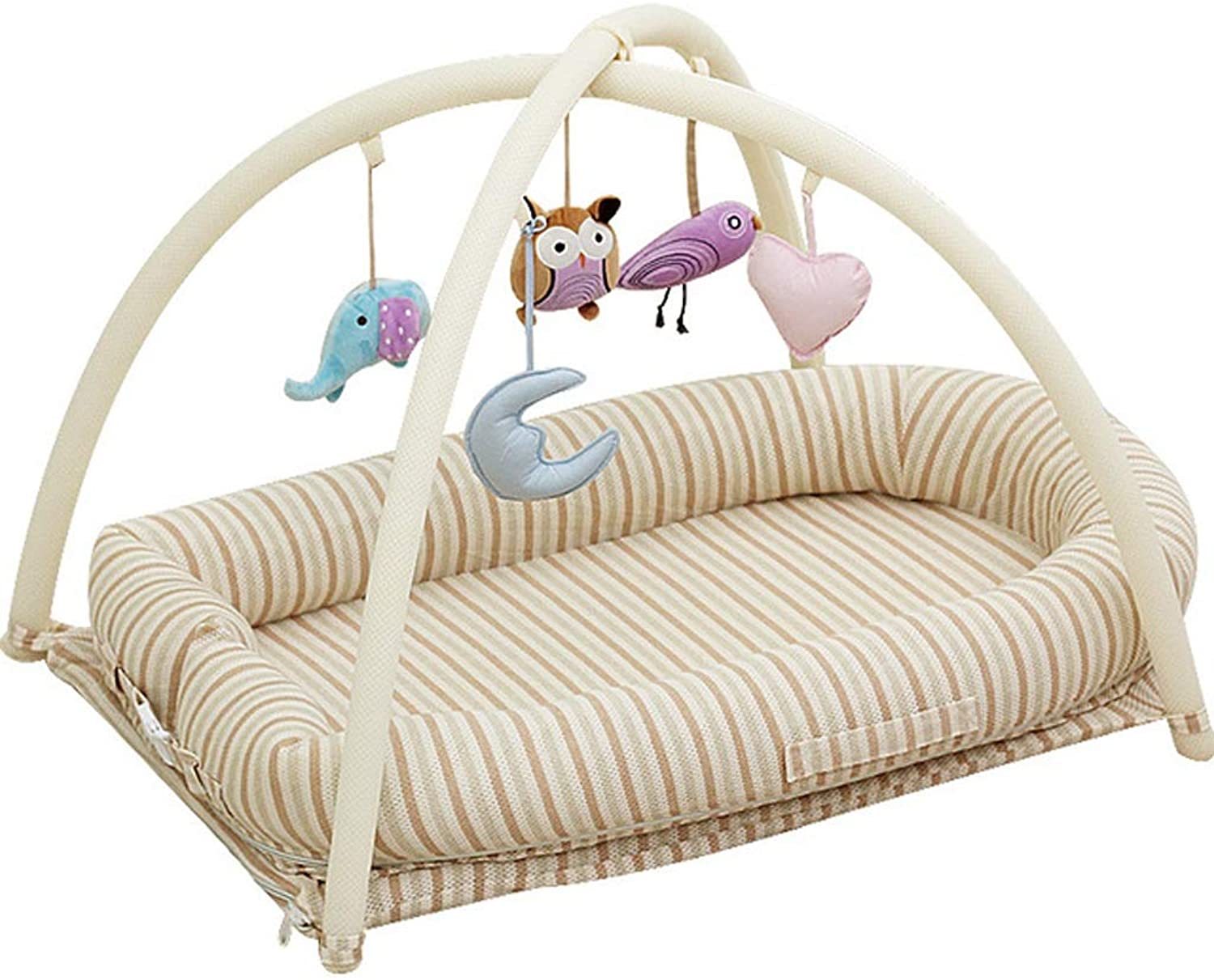 Crib Bed Portable Sleepy Multi-Function Natural color Cotton Bed Baby Newborn Cradle Bed Game Bed