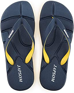 Men's Summer Flip Flops, Comfortable EVA massage Sandals Non-Slip Slippers Toe Post Thong Platform Wedge Beach Shoes,Blue,42