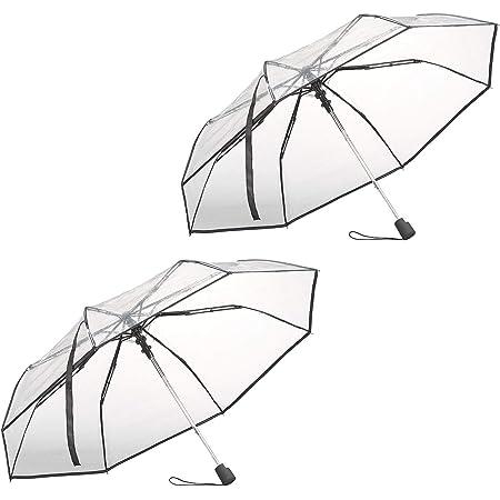 Transparent Regenschirm Taschenschirm Klar Automatik Faltbar Schirm 23*5cm