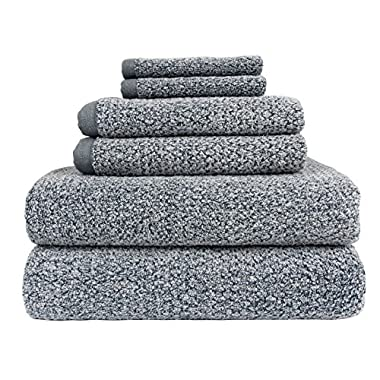 Everplush Diamond Jacquard Bath Towel 6 Piece Value Pack in Dusk