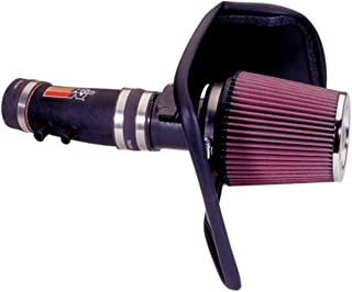 K&N Cold Air Intake Kit with Washable Air Filter: 2001-2004 Nissan (Frontier, Xterra) 3.3L V6, Black HDPE Tube with Red Oiled Filter, 57-6010