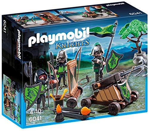 PLAYMOBIL Caballeros Caballeros playset con Figuras del Lobo y catapulta, 24.9 x 20.1 x 7.9 (6041)
