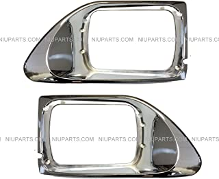 Headlight Bezel Chrome - Driver & Passenger Side (Fit: International 9200 9400 5900 Truck)