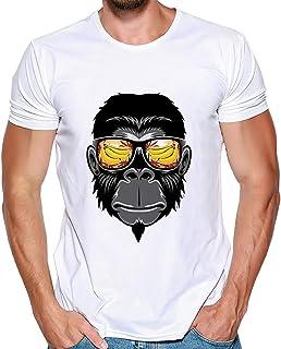 0424e72a4e704c feiXIANG Magliette Maniche Corta Estate T-Shirt con Stampa Divertenti  Casual Collo Rotondo Maglietta Camicia
