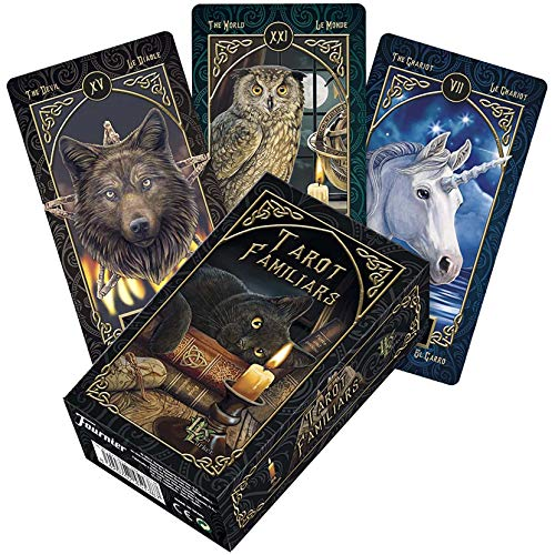 LPWCAWL Tarotkarten, Familiar Tarot Cards, Wahrsagen Spielkarte, Kartenspiel für Erwachsene und Kinder, 78 Karten Tarot, Englische Version