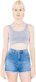 American Apparel Women's Short Cotton Spandex Crop Tank