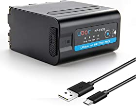New NP-F970 Battery Compatible Sony DCR-VX2100E DSR-PD190P DCM-M1 MVC-CD1000 HDR-FX1 HXR-NX3 HVR-HD1000U Camera LED&Video Light Replacement Batteries with Micro USB Cable 7800mAh F980 F770 F975 F960