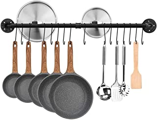 Toplife Colgador Utensilios Cocina-100CM Estante para Utensilios de Cocina de Acero con 16 Ganchos,Soportes para Utensilios para Ollas,Sartenes,Cuchillo,Cucharón de Cocina