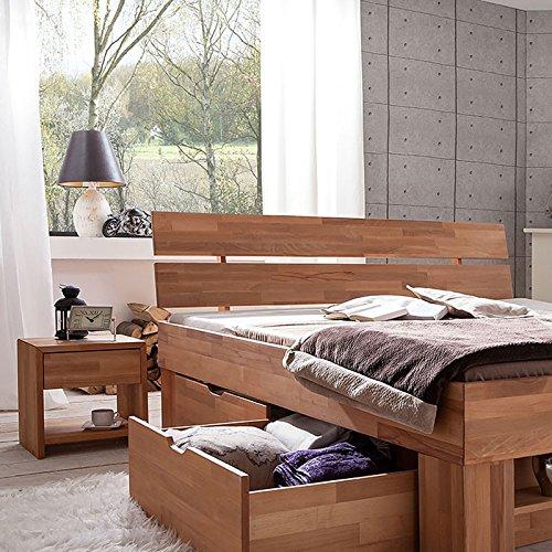 Futonbett SOFIE mit Bettkasten und Fußteilregal 140 x 200 cm - 5