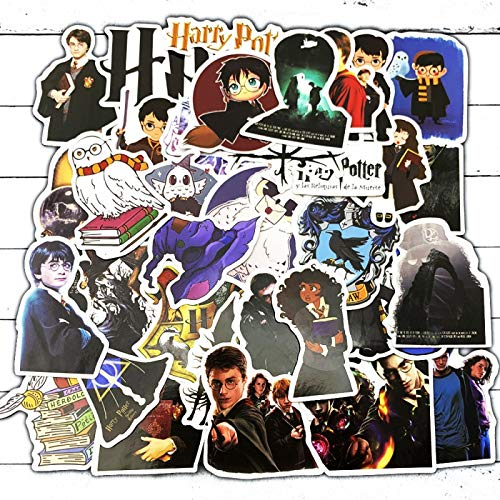 LMY 50 pegatinas de dibujos animados Harry Potter Graffiti Personalidad Pvc impermeable etiqueta engomada equipaje guitarra coche agua taza cuaderno casco