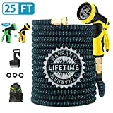 Best Coiled Garden Hoses - FIENVO 25 ft Upgraded Expandable Durable No-Kink Flexible Review