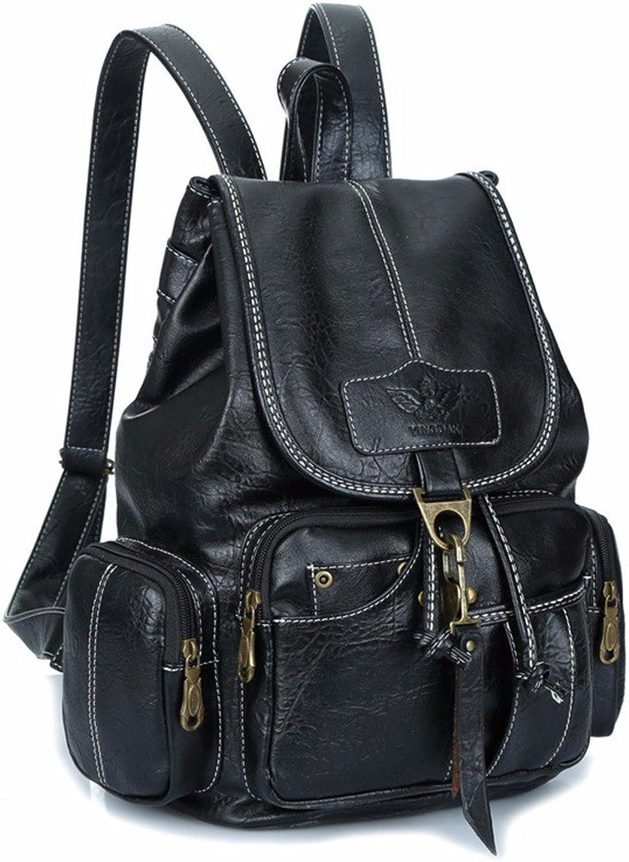 WanJiaherrenhop Damen Doppel Shoulder Bag Umhngetasche Fashion Bag Retro Rucksack