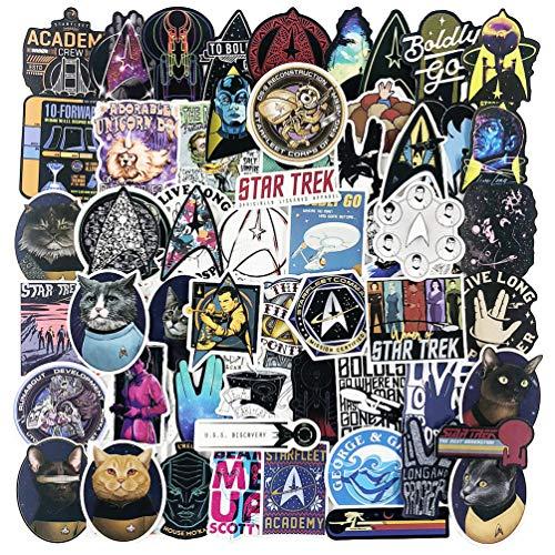 Star Trek coole Laptop-Aufkleber für Jugendliche und Erwachsene, wasserdicht, beliebte Wate Flaschen, Autos, Bomben, Computer, Gepäck, Skateboard, Fahrrad, Motorrad, Helm, 70 Stück