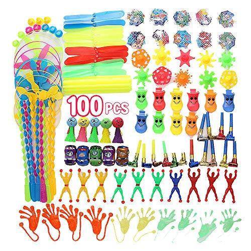 YueCen 100 stücke Party Mitgebsel Spielzeug, Mitgebsel Kleinspielzeug Mix Beutel Kindergeburtstag Party Tombola,Geburtstag Mitgebsel Geschenk ,Kinder Party Gastgeschenk