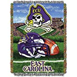 The Northwest Company East Carolina Pirates 'Home Field Advantage' Woven Tapestry Throw Blanket, 48' x 60' , Purple
