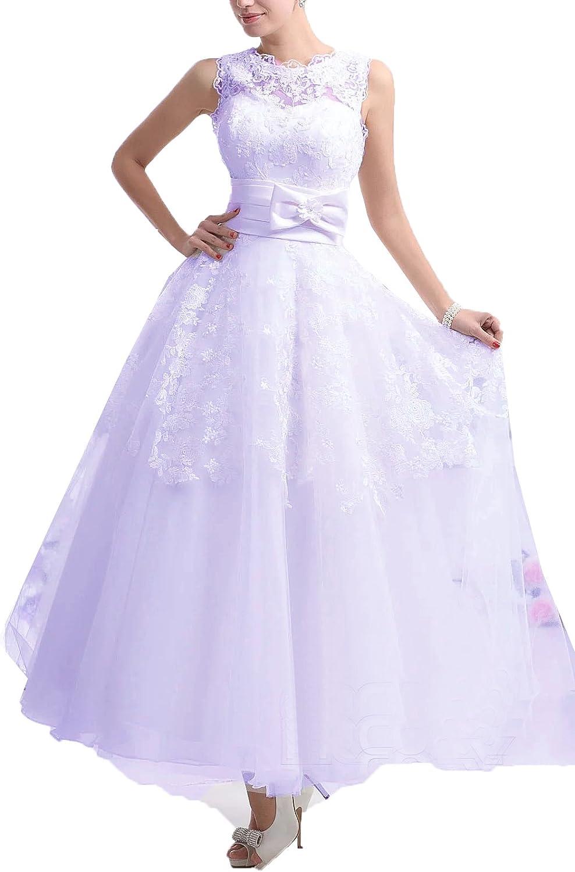 Tea Length Wedding Dresses Onlybridal Tank Sleeveless Appliques Short Gown
