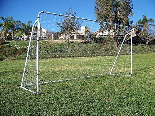 Display4top bramka do piłki nożnej 30 cm x 15 cm bramki piłkarskie W/paski siatkowe, zestawy treningowe z kotwicą
