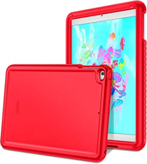Fintie iPad 9.7 2018/2017, iPad Air 2, iPad Air Case - [Mighty Shield] Heavy Duty Anti Slip Shock Proof Kids Friendly Drop Protection Silicone Cover for Apple iPad 6th 5th Gen, iPad Air 1 2, Red