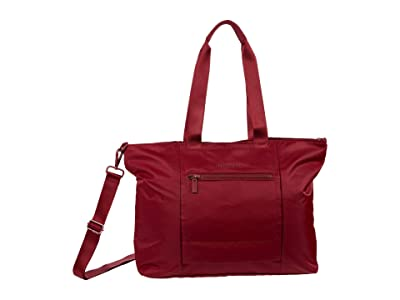 Hedgren Swing Large Tote with RFID (Cabernet) Tote Handbags