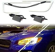 KE-KE Dual-Color Switchback DRL LED Lamp Circuit Board C-Rings Light Fit 2015 2016 2017 2018 Subaru WRX STI Headlight DRL and Turn Signal Light