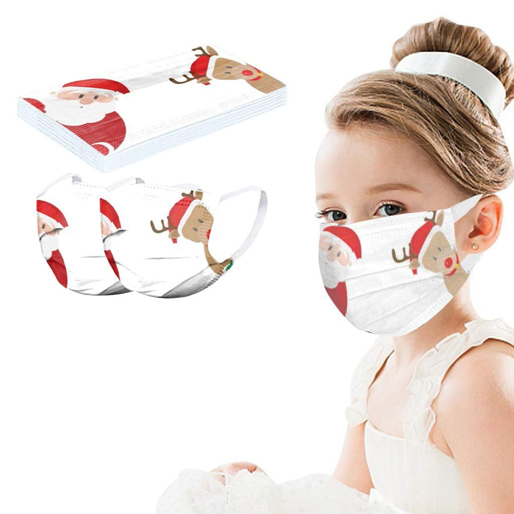 BBZUI Disposable Christmas Printed Ranking TOP6 Soft Face_masks Kids for La 3 Max 51% OFF