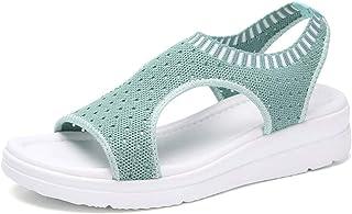 comprar comparacion Luckycat Sandalias Mujer Verano, Mujeres Zapatos al Aire Libre Plataforma Sandalias cuñas de Tacones Altos Sandalias Hebil...