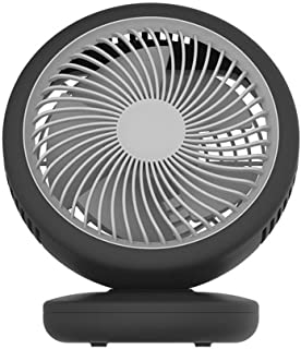 Table Fan Shake Head Fan Wall Mount Desktop USB Charging Small Fan Home Office 4 Gear Wind Mini Fan Desktop Fan (Color : B...
