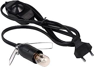 LEDMOMO E12 15W filamento de tungsteno bombilla y atenuar el cable del interruptor de la luz para la lámpara de sal con enchufe de la UE