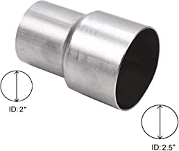 """BETTERCLOUD Universal 2"""" ID to 2.5"""" ID Exhaust Pipe Adapter Connector Reducer Mild Steel"""