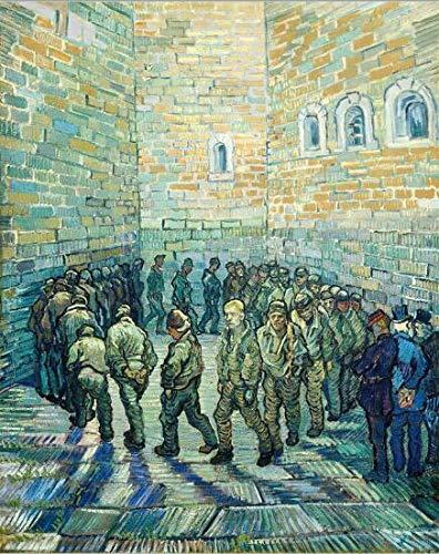 Impresionista pintura famosa Vincent van Gogh prisionero cartel impresión en lienzo pared arte pintura para sala de estar decoración del hogar30x40cm