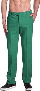 بناطيل رجالي ماركة CONCITOR خضراء اللون من القطن بجزء أمامي مسطح للرجال