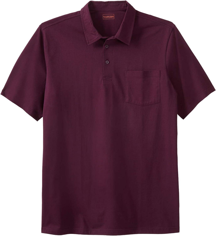KingSize Mens Big /& Tall Heavyweight Jersey Polo Shirt