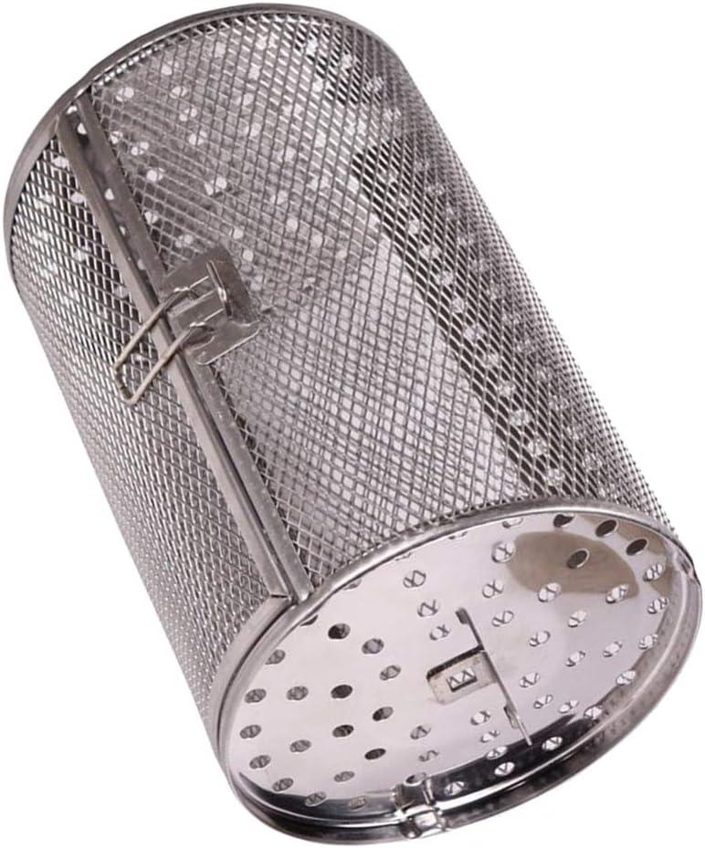Cabilock Freidora de Aire de Acero Inoxidable Horno Rostizador Cesta Asada Cocina Parrilla Tostador para Hornear Nueces Rotatorias Cesta de Frijoles para Barbacoa Parrilla Utensilios para