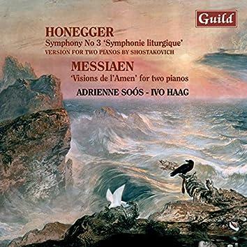 Honegger: Symphony No. 3 - Messiaen: Visions De L'amen
