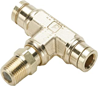 Parker 172PMT-4-4 Brass Push-to-Connect D.O.T. Fitting, Tube to Pipe, Brass, Push-to-Connect and NPTF Branch Tee Swivel, 1/4