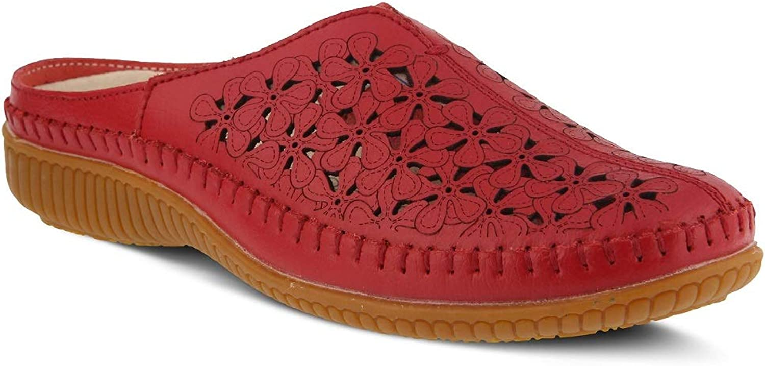 Spring Step Women's Parre Clog & Mules   color Red   Leather Clog & Mules