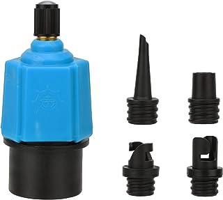 QKURT Adaptador de Bomba de Sup Inflable Convertidor de Bomba de Aire, Adaptador de válvula de Sup multifunción con 4 boquillas de válvula de Aire para Bote Inflable, Tabla de Paddle de pie, etc.