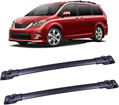 """LUJUNTEC 42"""" Aluminum Roof Mounted Roof Rack Cross Bar Set Fit for 2011-2017 Toyota Sienna Top Rail Carries Luggage Carrier"""