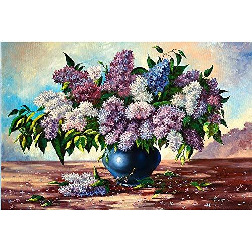 JCCOZ-URG Pintura al óleo del Rompecabezas - Jigsaw Flor de Arte for niños y Adultos - Madera 1,000 Piezas de Rompecabezas - Educación Rompecabezas Juegos-Mejor Regalo (Blooming Flores) URG