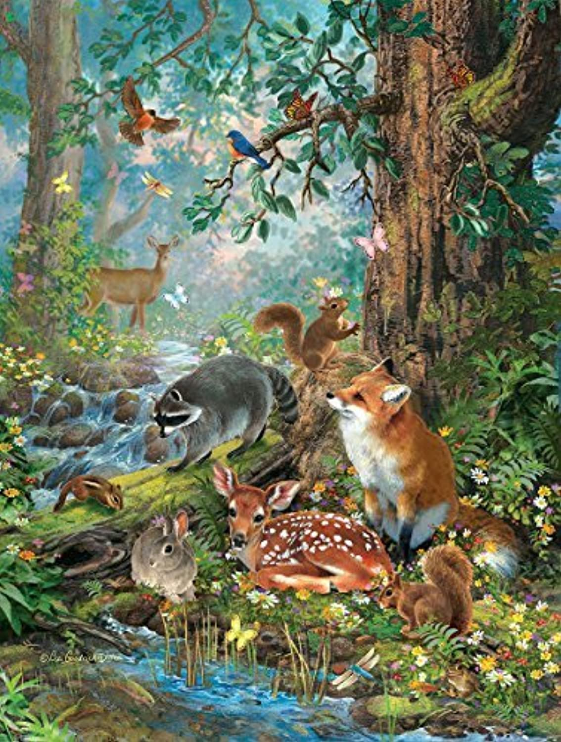 Woodland Forest Friends, A 300 Piece Jigsaw Puzzle by SunsOut by SunsOut