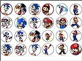 24 Sonic Le Hérisson Poster Super Mario décorations en