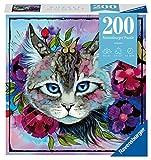 RAVENSBURGER PUZZLE- Cateye Ravensburger 12960-Puzzle (200 Piezas), diseño de Ojos de Gato, Color Plata (12960)