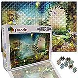 GFSJJ Puzle 1000 Piezas para Infantiles Niño Adultos Adolescentes Puerta De Paisaje De Fantasía Puzzle Bonito Adultos para Niños 3 Años (38 X 26 Cm)