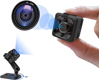 Mini Spy Camera, Hidden Camera 1080P, Nanny Cam Full HD with Night Vision Motion Activation for Indoor Outdoor Covert Secu...