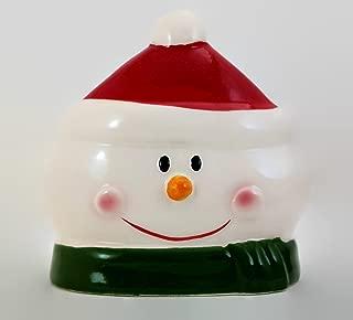 Christmas Holiday Themed Ceramic Napkin Holder Party Decor (Snowman)