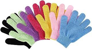 Prettyia Set Of 7 Scrub Bath Glove Scrub Glove Shower Skin Care Scrubber Massage Clean Glove For Body Scrub
