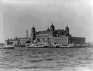 Immigrant Landing Station on Ellis Island - Vintage Photograph (9x12 Art Print, Wall Decor Travel Poster)