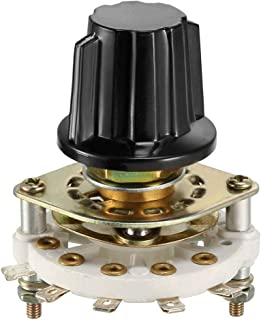 uxcell 1P4T 1 Pole 4 Position 1 Deck Band Channel Rotary Switch Selector with Knob