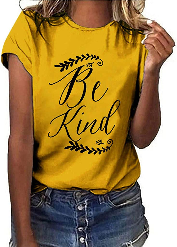Womens Short Sleeve Shirts,T-Shirt Short Sleeve Loose Tunic Tops Summer Loose Heart Print Graphic Blouse Tops