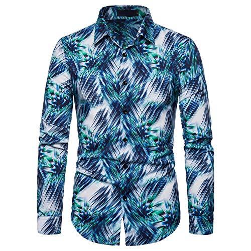 Otoño nuevo manga larga camisa hombres impresión casual camisa camisa camisa ropa
